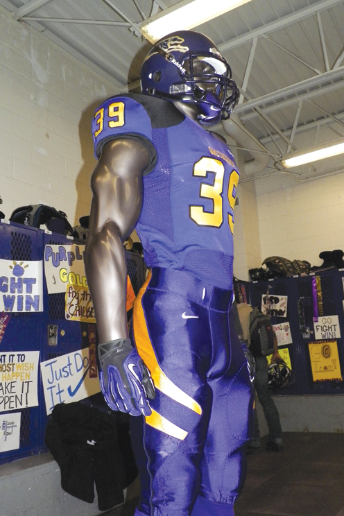 0809e513d Pictured are the new Nike uniforms awarded to the San Benito Greyhounds  Thursday evening. (Staff photo by Heather C. Cox)