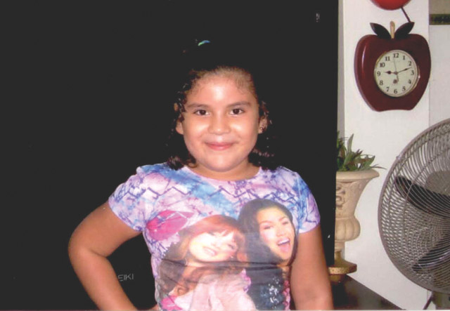 Ruby Ramirez, 7, is shown in a photo provided by Henry Thomae Funeral Home, where chapel services will be held for the first grader on Saturday. (Courtesy photo)