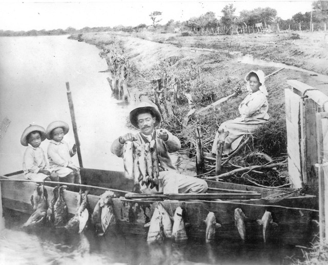 The Callandret family of San Benito is shown in this undated photo. (Photo courtesy of the San Benito Historical Society)
