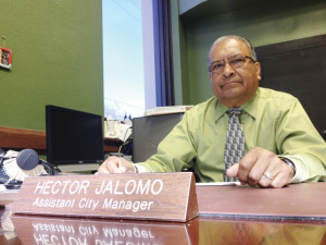(File photo) Assistant City Manager Hector Jalomo is seen inside his San Benito Municipal Building office.