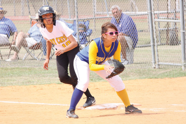 The Rio Hondo Lady Bobcats bowed out of the state 3A softball playoffs on Saturday after falling to Raymondville, 3-2, thus ending a best-of-three game series between the two teams. (Photo by T.J. Tijerina)
