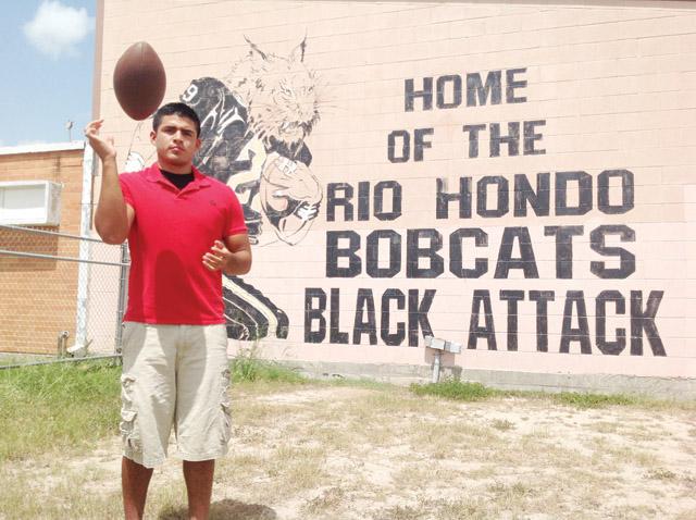 San Benito News photo by Francisco E. Jimenez Juan Puga, a 2013 graduate of Rio Hondo High School, will take his talents to the Trans-Pecos region where he'll play for Sul Ross University in Alpine.