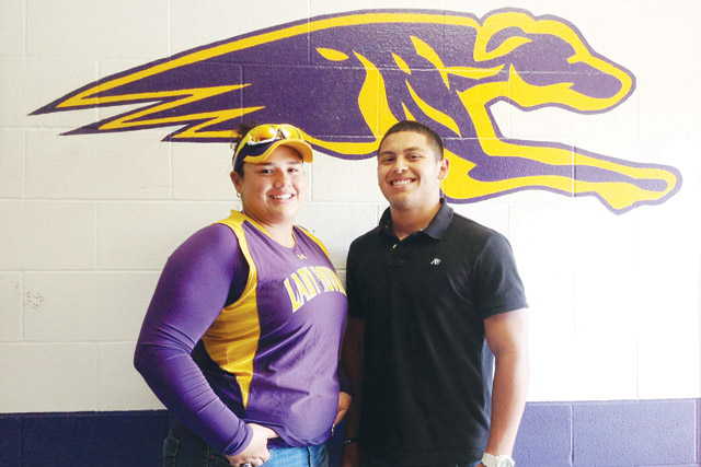 Jackie Elizondo and Jamail Garza, San Benito High School student athletes, have been selected as the 2013 San Benito News Sportsmen of the Year. (Staff photo by Francisco E. Jimenez)