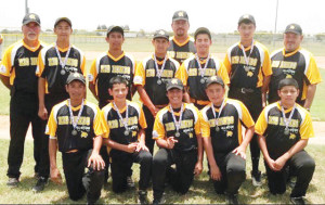 Courtesy photo Seen is the Rio Hondo All-Star Pony team at a recent tournament, this before participating at the Pony Sectional Tournament June 24 at the McAllen Municipal Park.