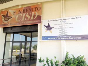 San Benito News photo by Michael Rodriguez The San Benito CISD on-site health clinic managed by ISD Managed Care Services is seen Friday. The SBCISD Board of Trustees on Tuesday plan to discuss and take possible action on providing ISD with 60 days written termination notice.