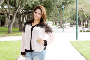 Photo courtesy of Texas State Technical College Texas State Technical College student Beatrice Ortiz of San Benito is studying to become a teacher. She will take the first steps toward that goal after graduating in December with an Associate's in Education in Training.