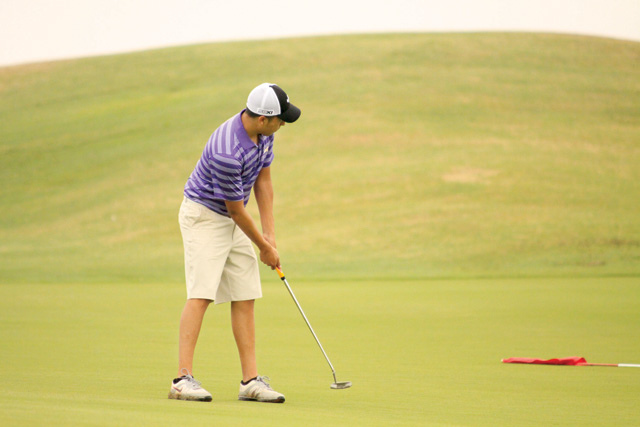 Courtesy photo San Benito High School senior golfer Francisco Guerra won the boys division of the PSJA Individual Golf Tournament on Nov. 22 at Tierra Del Sol golf course in Pharr. Guerra,  a member of the Greyhound varsity golf team since his fresmen year, placed first with a score of 75. He is also an All-District selection in the 2011, '12 and '13 seasons. Emma Valle, a decorated Lady Greyhound golfer, also took first place in the girls division.