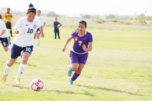 Photo by Balde Olivarez The San Benito Lady Hounds are seen here during Friday's Dog Pound Soccer Tournament.