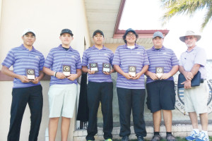 Greyhound golfers place third at tourney