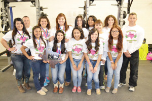 (Staff photo by Francisco E. Jimenez) The San Benito Lady 'Hounds powerlifters are seen Tuesday inside the school weight room. The team secured a second place showing at the state tourney, where individually the girls also did well. San Benito's Samantha Machuca, for instance, won gold for the third consecutive time.