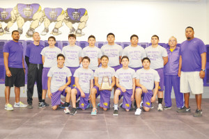 (Staff photo by Francisco E. Jimenez) The San Benito Greyhound freshmen track team swept the district track meet and secured the championship as a result. Varsity athletes also performed well.