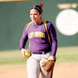 (Photo by T.J. Tijerina) San Benito Lady 'Hounds junior hurler Crystal Castillo was recently recognized as the 31-5A All-District Most Valuable Player.