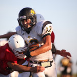 (Photo by Justin Tijerina) The Rio Hondo Bobcats looked impressive in their first scrimmage of the season on Friday, Aug. 15, against St. Joseph.