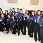 (Photo by Angelica Chavez) Senior members of the San Benito High School Marching Band are shown at the band hall during picture day on Friday.