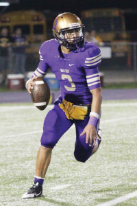 (Photo by T.J. Tijerina) Quarterback Cristian Sierra, who was named the San Benito News Player of the Week for the second consecutive time, will lead the San Benito Greyhounds against the Harlingen Cardinals in the 85th Battle of the Arroyo at Bobby Morrow Stadium in San Benito on Friday.
