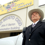 10 years gone San Benito CISD Superintendent of Schools Antonio G. Limón is seen Thursday outside the John F. Barron Administration Building, where he's worked for more than a decade. (Staff photo by Jacob Lopez)