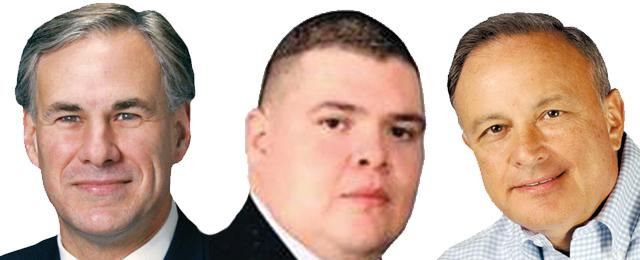 Greg Abbott, Roel Cavazos, Carlos Cascos
