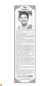 Olga Cavazos Obituary