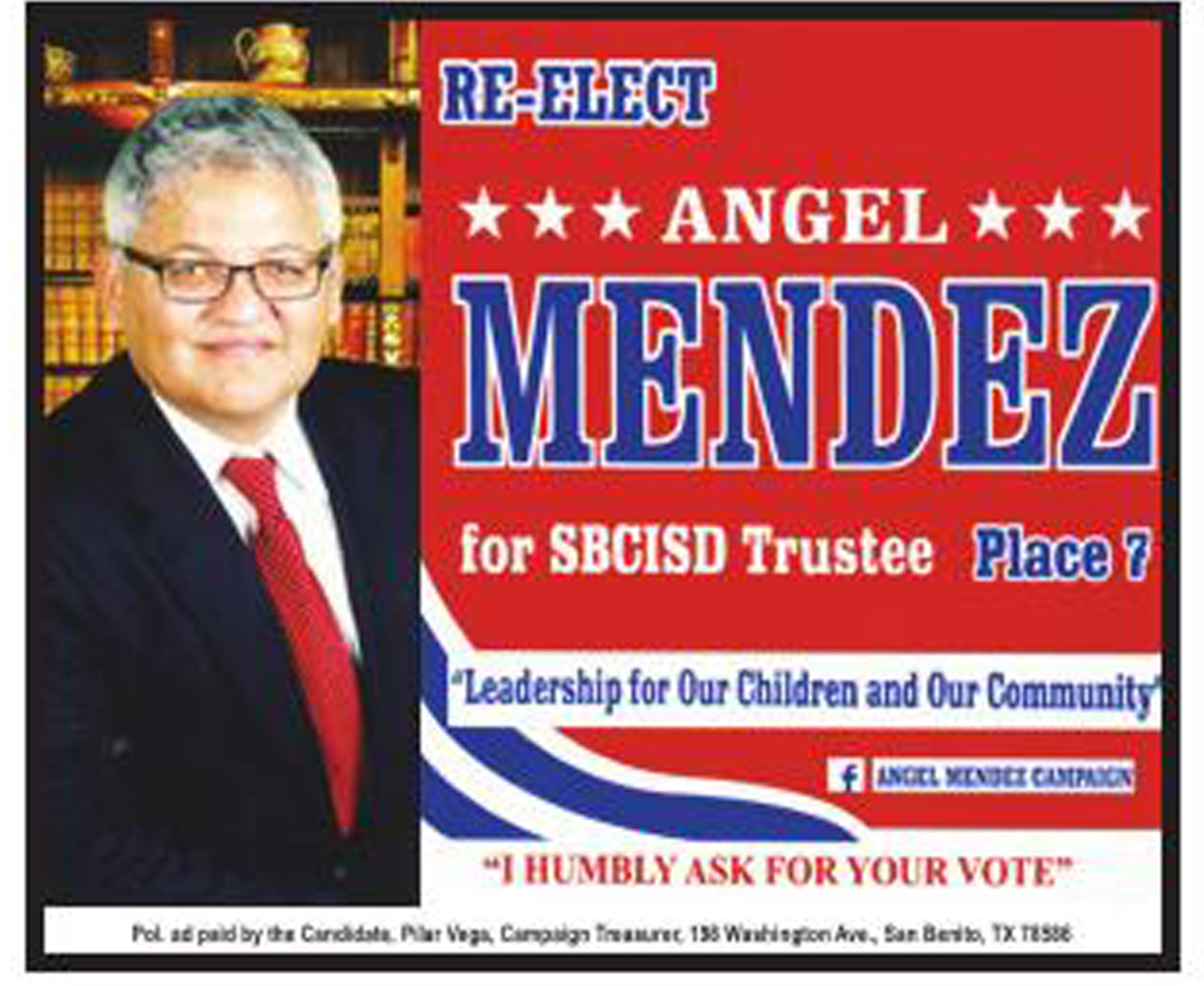 Re-Elect Angel Mendez